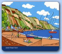 Axmouth Harbour from Seaton Beach Mouse Mat