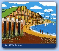 East Cliff, West Bay Mouse Mat