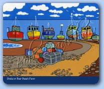 Boats on Beer Beach Mouse Mat